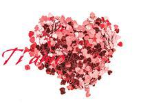Stock Illustration of Composite image of valentines confetti