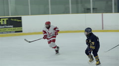 Pee Wee single A hockey game. 4K UHD Stock Footage