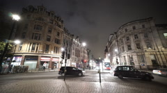 London Whitehall Street by night Stock Footage