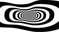 Concentric oncoming abstract symbol, foot - optical, visual illusion - stock footage