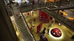 Nemo science center interior Stock Footage