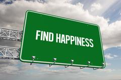 Stock Illustration of Find happiness against sky