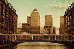 Stock Photo of london canary wharf