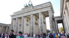 The most popular land mark in Berlin, Germany Stock Footage