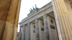 Brandenburg Gate in Berlin, Germany Stock Footage
