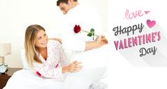 Composite image of cute valentines couple Stock Illustration