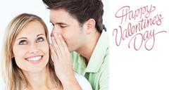 Stock Illustration of Composite image of cute valentines couple