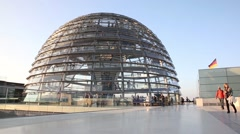 Berlin Reichstag government building - stock footage