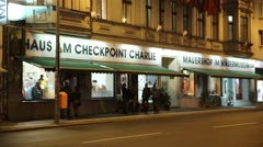 Checkpoint Charlie museum in Berlin Germany Stock Footage