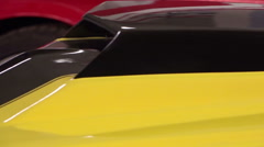 The air intake on the hood of a sports car retro. HD. 50fps Stock Footage