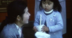 Japanese Mum and Child in Tokyo 70s 16mm Stock Footage
