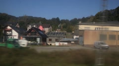 Train ride in Europe - stock footage