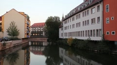 Nuremberg old town architecture Stock Footage