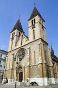 Catholic Cathedral in Sarajevo, Bosnia and Herzegovina - stock photo