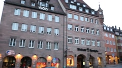 Nuremberg old town Stock Footage
