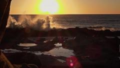 Huge Waves splashing in Big Sur, CA - 60fps Stock Footage
