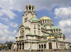 The St. Alexander Nevsky Cathedral, in Bulgaria Sofia - stock photo