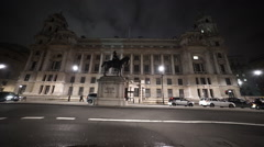 Statue at Whitehall London Stock Footage