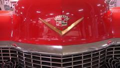 Logo CADILLAC close-up and ornament brand ELDORADO 1954 release Stock Footage