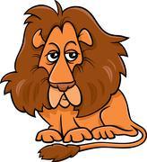 Stock Illustration of lion animal cartoon illustration