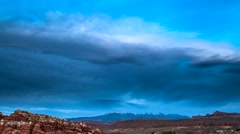 Arches after Sunset la sal timelapse 4k Stock Footage