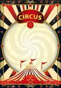 big top sunbeams circus poster - stock illustration