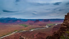 Western Landscape Utah Professor Valley Overlook Colorado River Time-lapse Stock Footage