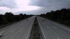 Autobahn Timelapse Stock Footage
