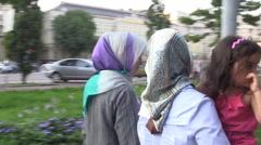 Muslim Ukraine Ladies in Kiev Ukraine Stock Footage