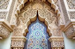 Moroccan architecture traditional design Stock Photos