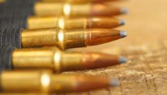 Rifle Ammunition Stock Footage
