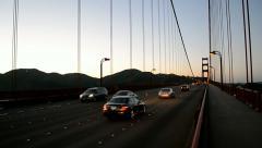 Golden Gate Bridge traffic, San Francisco, USA. Stock Footage