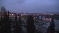 Lake in Kiev Ukraine Night Stock Footage