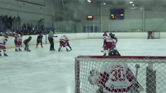 Pee Wee single A hockey game. 4K UHD - stock footage