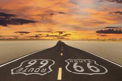 route 66 romanticized - stock photo