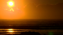 Golden Sunset New Zealand Stock Footage