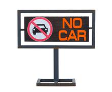 No cars allowed sign, not parking in area Stock Photos