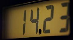 Gas Pump Display, reset - stock footage
