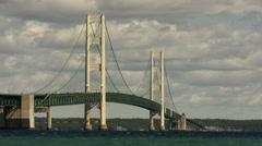 Mackinac Bridge Time Lapse 08-06-2010 Stock Footage