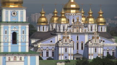 Golden Roof Church Kiev Stock Footage