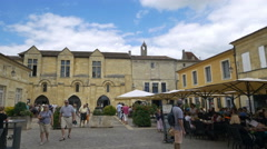 Restaurants & Cafes - Saint Emilion France - HD 4K+ Stock Footage