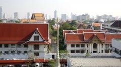 Sathon view from Wat Arun, Bangkok Stock Footage