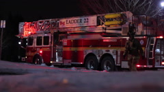 Fire Fighter walks towards scene Stock Footage
