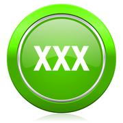 xxx icon porn sign. - stock illustration