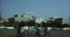Tokyo 70s 16mm Open Space Bikes - stock footage