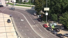 Street in Kiev Stock Footage