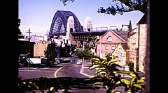 Sydney Harbour Bridge Australia - 1970's Stock Footage