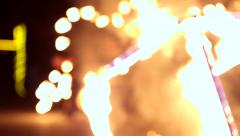 VINNITSA, UKRAINE - SEPTEMBER 21: Fire show on the day of the city. Arkistovideo
