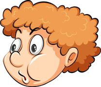 A head of a boy Stock Illustration