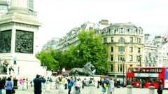 Trafalgar Square,one of the most popular tourist attraction of London Stock Footage